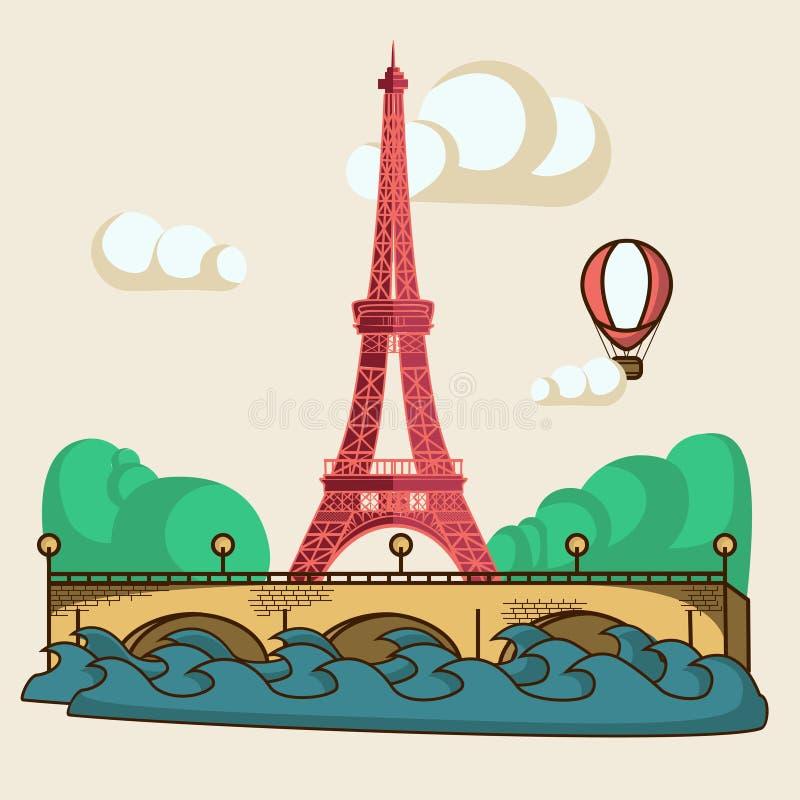 Download De brochure van Parijs stock illustratie. Illustratie bestaande uit aardrijkskunde - 54076319