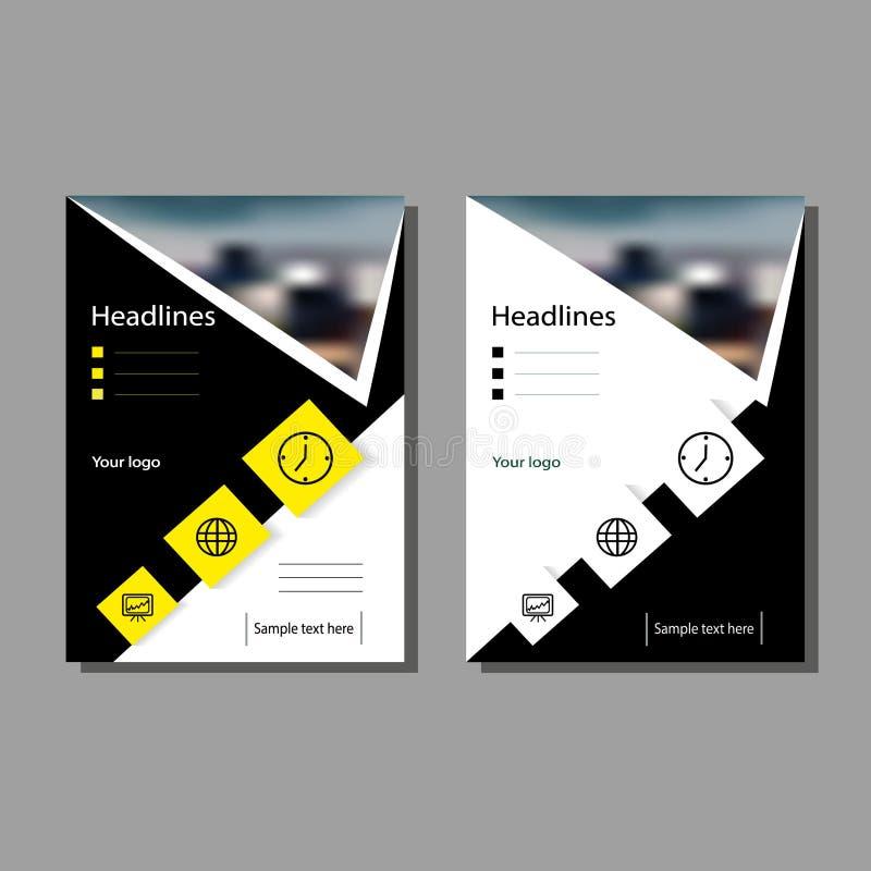 De brochure voor het rapport, een dekkingspamflet, presentatie, vlieger Vlakke geometrische abstracte achtergrond stock fotografie