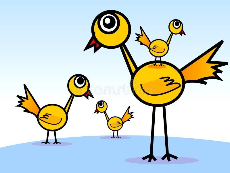 De broerfamilie van lange beenvogels 's royalty-vrije illustratie