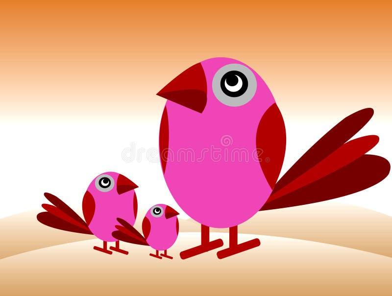 De broerfamilie van vogels 's vector illustratie