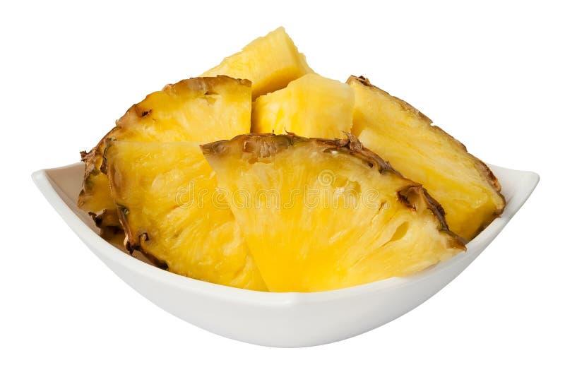 De brokken van de ananas stock foto's