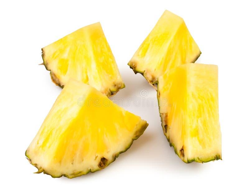De brokken van de ananas royalty-vrije stock afbeelding