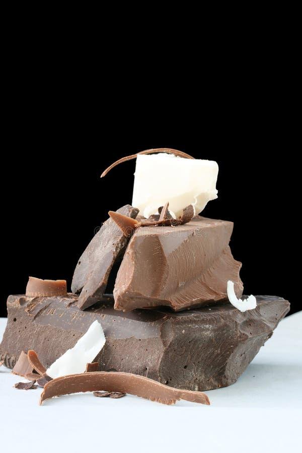 De Brokken van de chocolade royalty-vrije stock foto