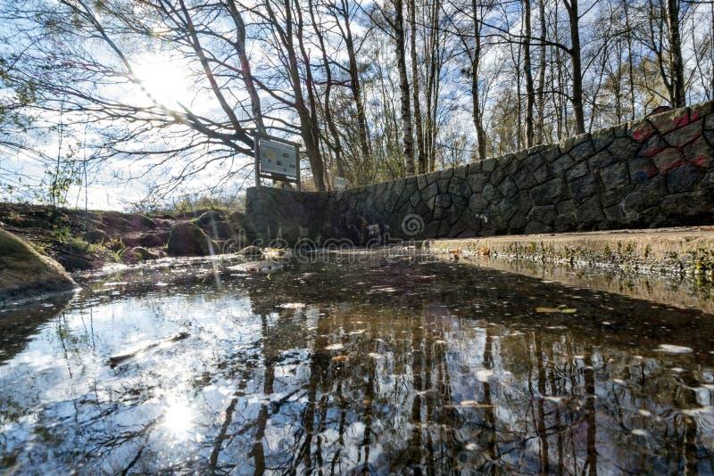 De bron van Alster in henstedt-Ulzburg stock afbeeldingen