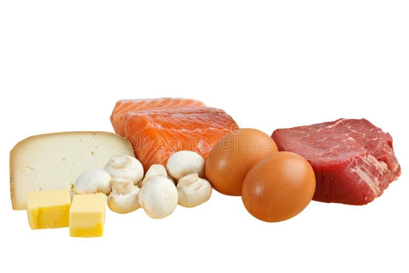 De bronnen van het voedsel van vitamine D royalty-vrije stock afbeeldingen
