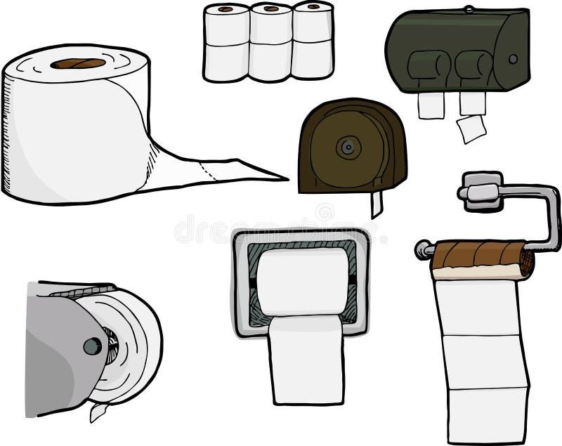 De Broodjes en de Automaten van het toiletpapier vector illustratie