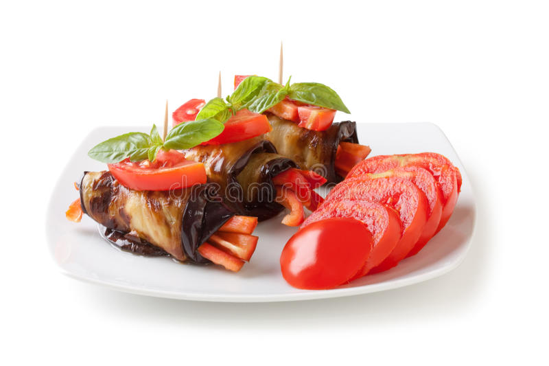 De broodjes van de aubergine royalty-vrije stock afbeelding
