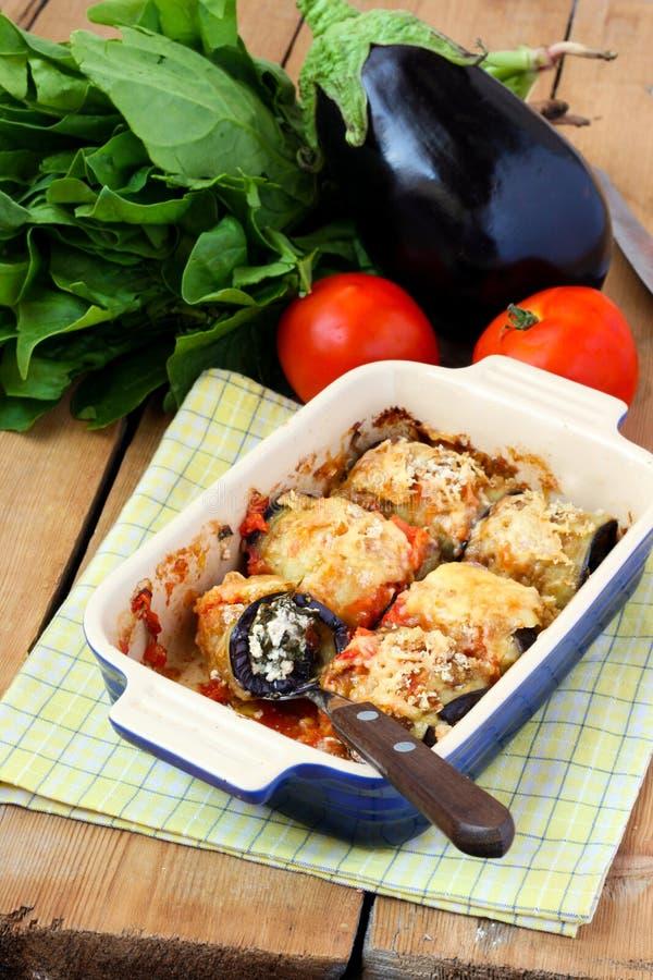 De broodjes van de aubergine stock afbeeldingen
