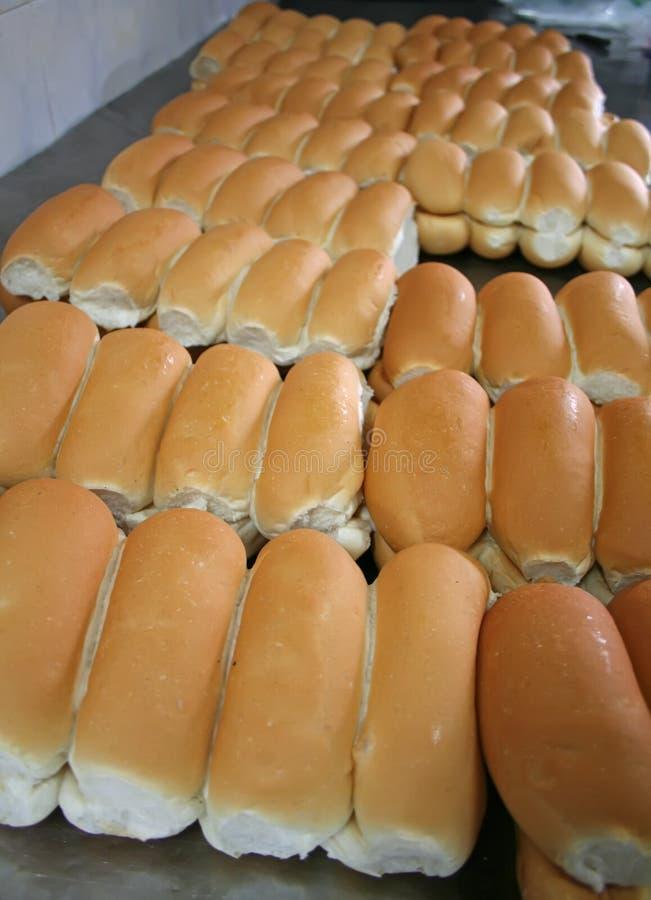De broodjes van de bakkerij stock afbeeldingen