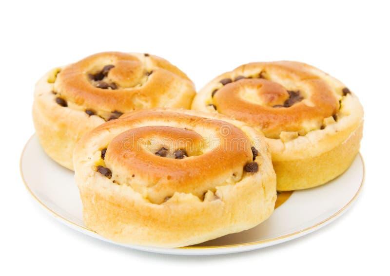 De broodjes van de chocolade stock fotografie