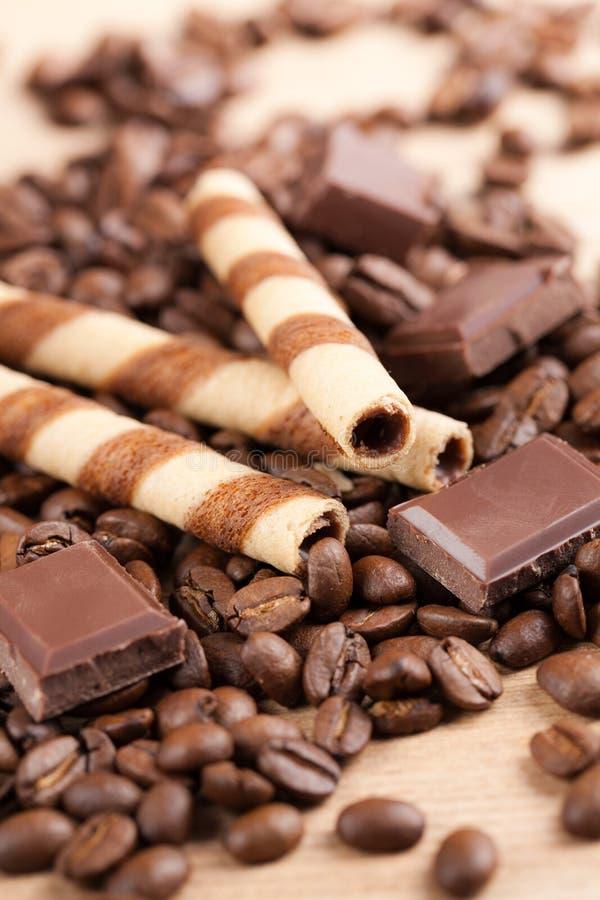 De broodjes van de koffie stock afbeelding