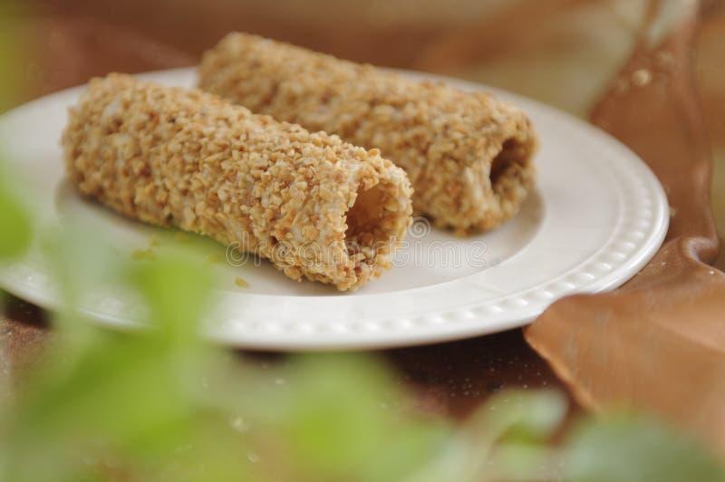 De Broodjes van de noot stock afbeelding