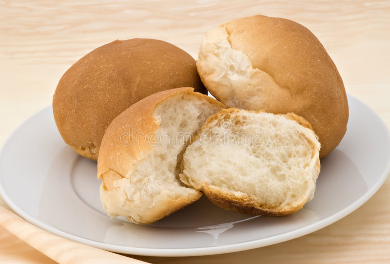 De Broodjes van het diner stock foto's