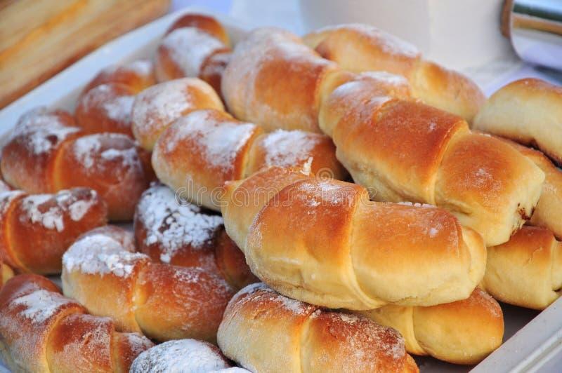 De broodjes van het gebakje royalty-vrije stock afbeelding