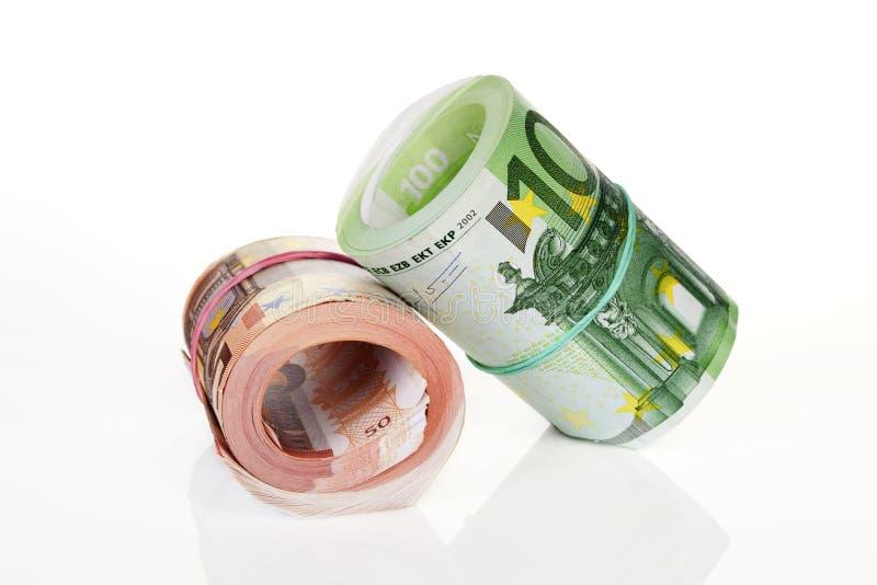 De broodjes van het geld. royalty-vrije stock afbeelding