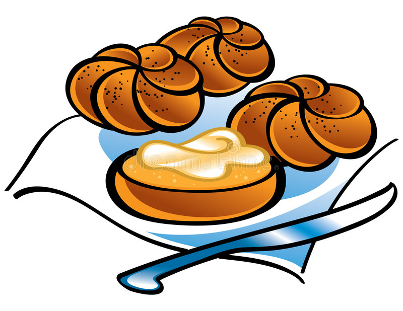De Broodjes van Kaiser stock illustratie