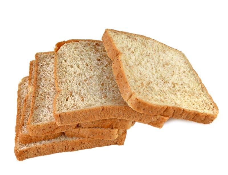 De broodtarwe regelt witte achtergrond stock foto