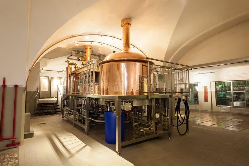 De brouwerij van Stieglbrauwelt, Salzburg royalty-vrije stock fotografie