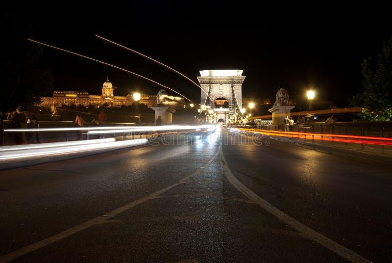 De brug Boedapest van de ketting stock afbeelding
