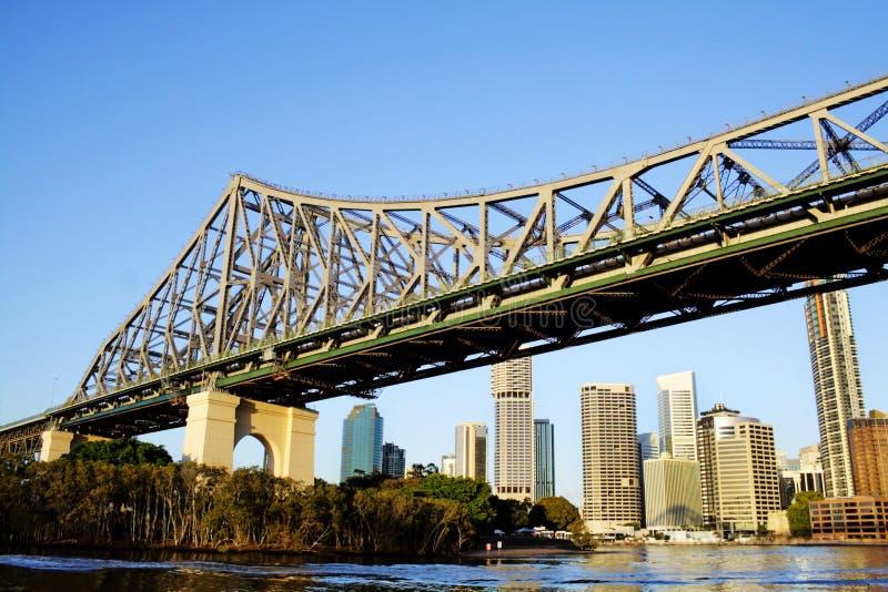 De Brug Brisbane Australië van het verhaal stock foto's