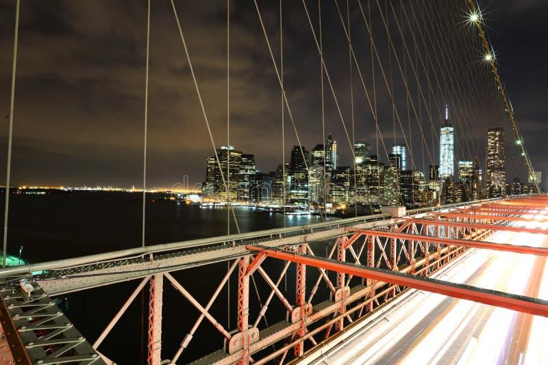 De Brug en Manhattan van Brooklyn royalty-vrije stock fotografie