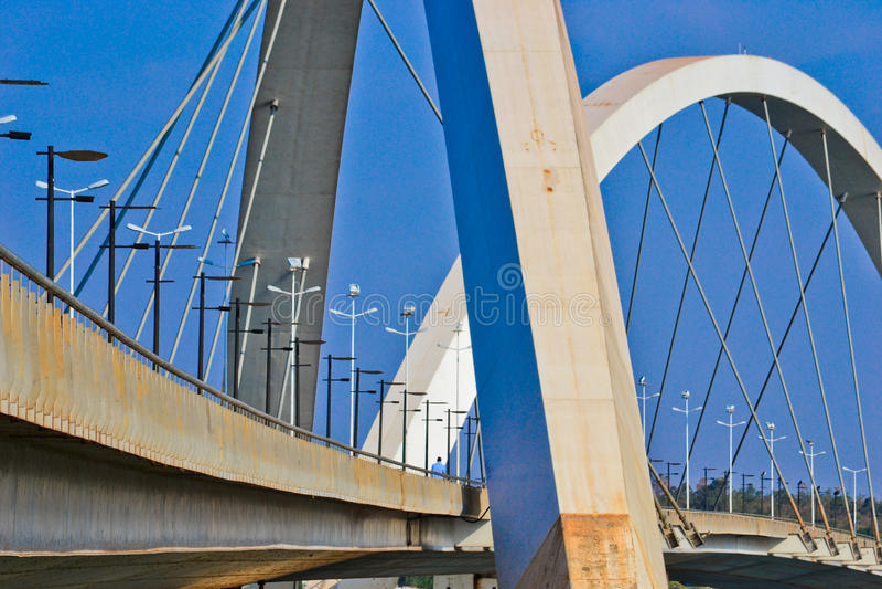 De brug JK in Brasilia royalty-vrije stock afbeelding