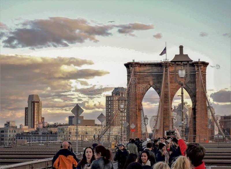 De Brug Manhattan New York van Brooklyn stock fotografie