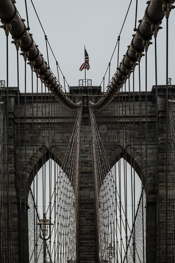De Brug New York, de V.S. van Brooklyn royalty-vrije stock afbeeldingen