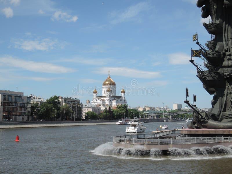 De brug over de Rivier van Moskou royalty-vrije stock fotografie
