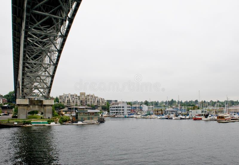De brug Seattle van de dageraad royalty-vrije stock foto's