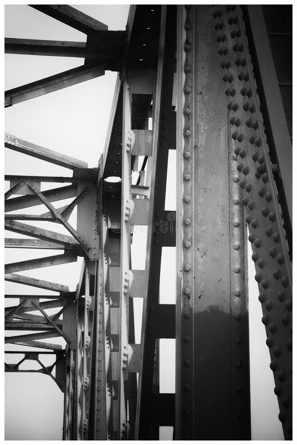 De brug steunt close-up royalty-vrije stock afbeelding
