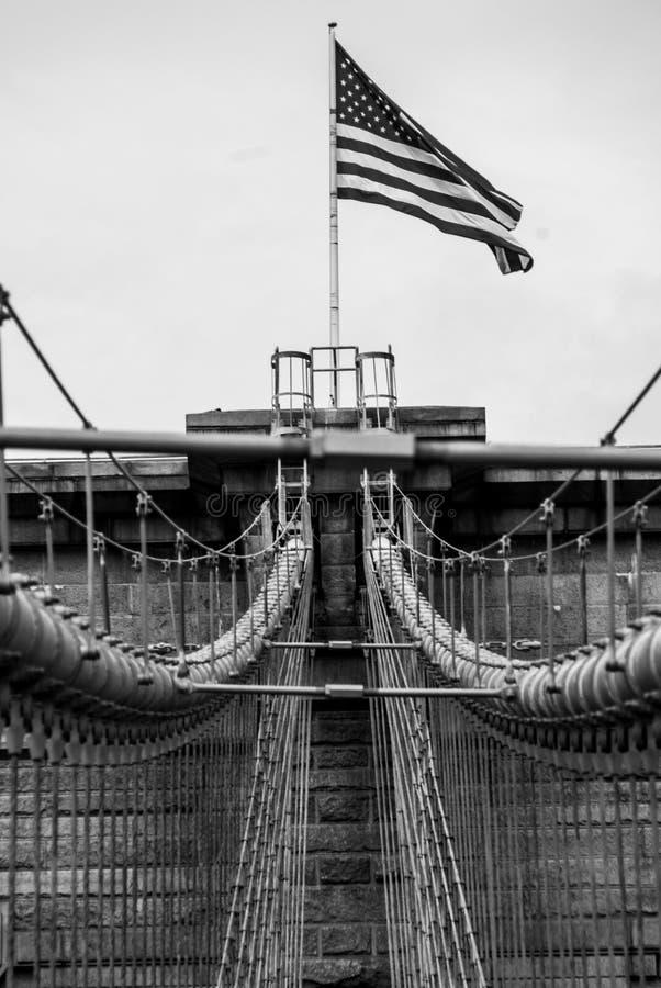 De Brug Structurele Dichte Omhooggaand van Brooklyn royalty-vrije stock fotografie