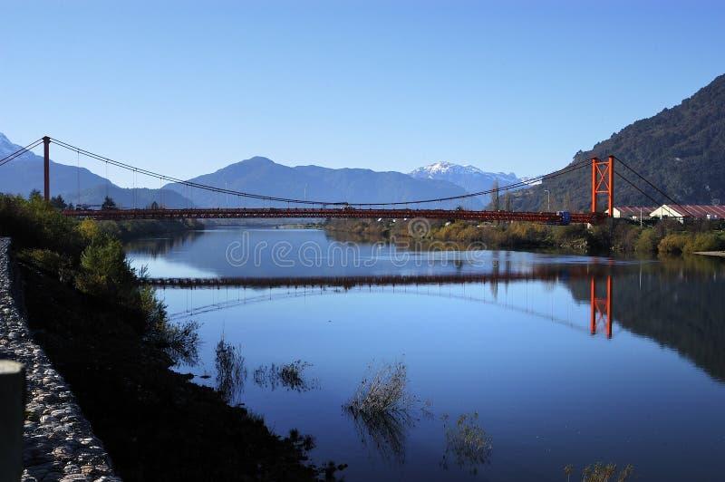 De brug van Aysen stock foto
