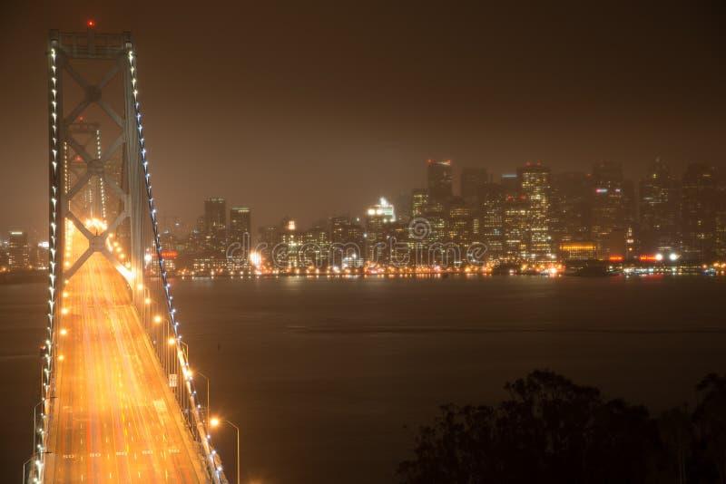 De brug van de baai in San Francisco royalty-vrije stock foto