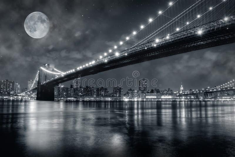 De Brug van Brooklyn stock foto's