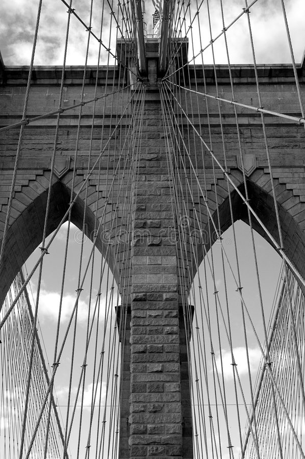 De brug van Brooklyn royalty-vrije stock foto's