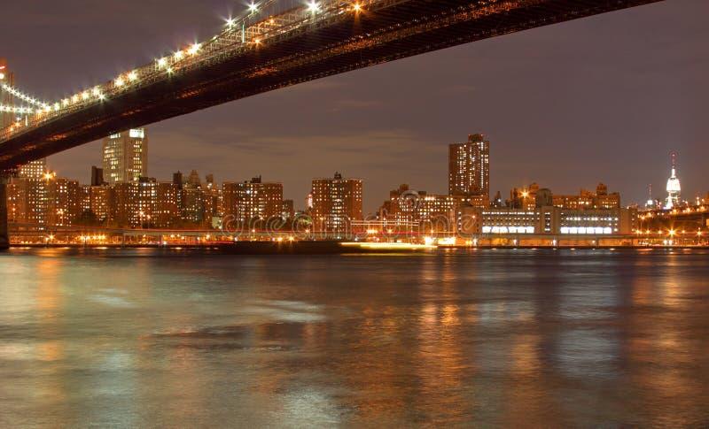 De Brug van Brooklyn & de Stad van New York royalty-vrije stock foto's
