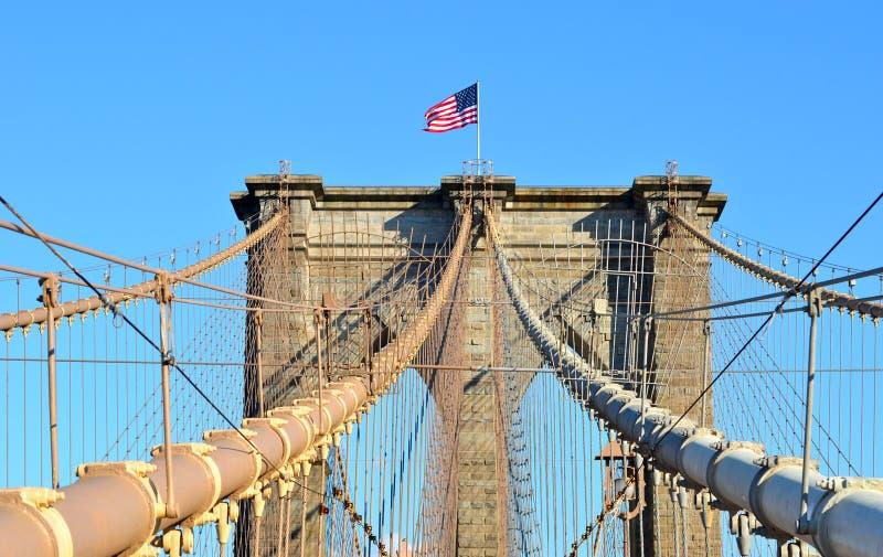 De Brug van Brooklyn in de Stad van New York stock fotografie
