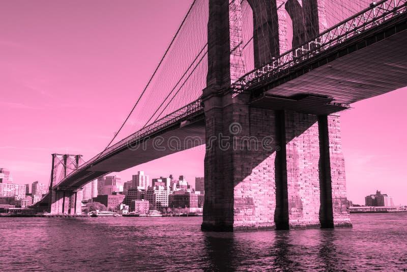 De Brug van Brooklyn, de Stad van New York royalty-vrije stock afbeeldingen