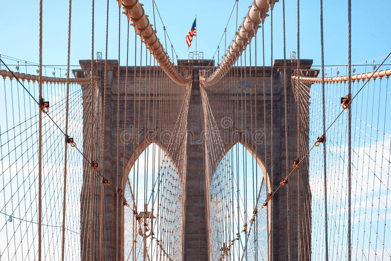 De Brug van Brooklyn in de Stad van New York, NY, de V.S. royalty-vrije stock foto