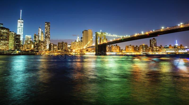 De brug van Brooklyn, Manhattan, New York stock afbeelding