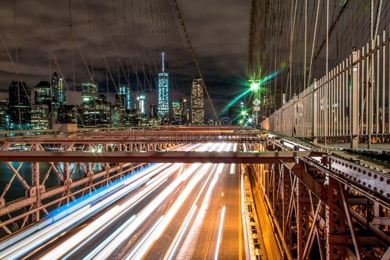 De Brug van Brooklyn - Manhattan New York stock fotografie