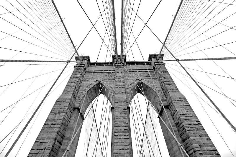 De Brug van Brooklyn in New York royalty-vrije stock foto's