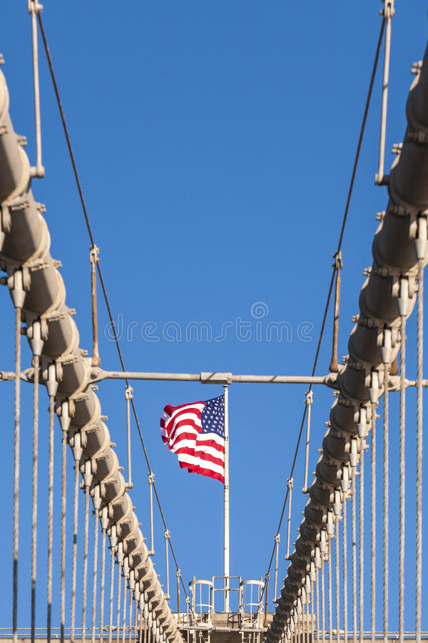 De Brug van Brooklyn in New York royalty-vrije stock fotografie