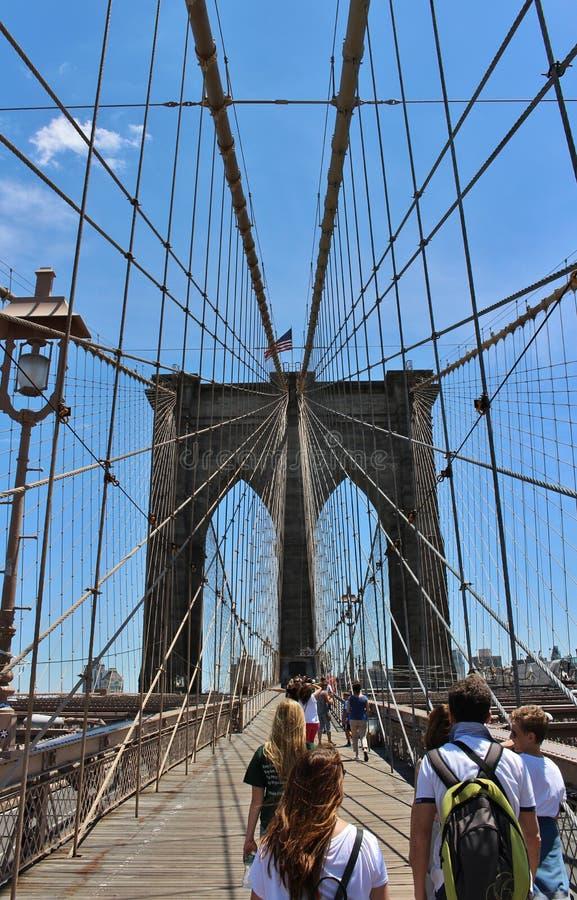 Download De Brug Van Brooklyn, New York Redactionele Stock Afbeelding - Afbeelding bestaande uit majestic, groot: 54089299