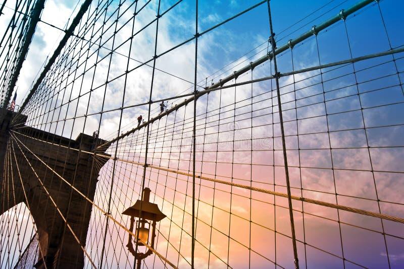 De brug van Brooklyn, New York, de V royalty-vrije stock foto's