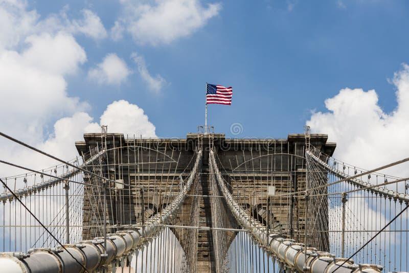 De brug van Brooklyn, New York, de V stock foto's