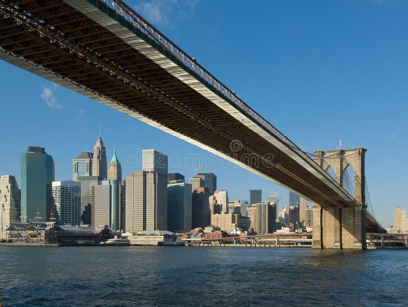 De brug van Brooklyn, New York, de V.S. royalty-vrije stock afbeeldingen