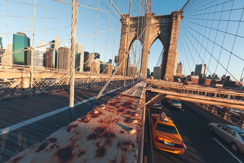De Brug van Brooklyn - NYC stock foto's