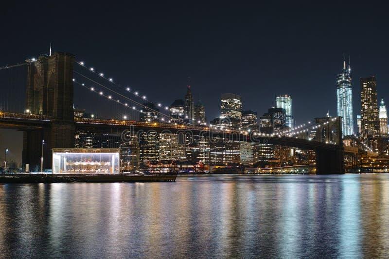 De Brug van Brooklyn in NYC stock foto